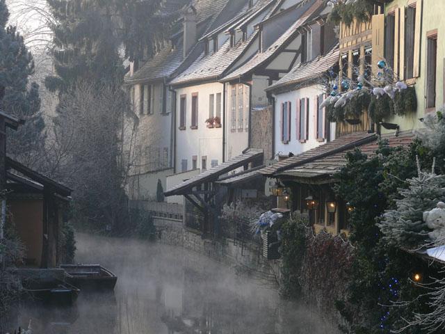 La Lauch, Petite Venise. Colmar. Haut-Rhin. Décembre 2007.