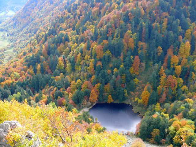 Le lac du Fischboedle. Haut-Rhin. Octobre 2008.