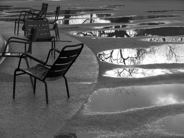 Jardin des Tuileries. Paris. Février 2010.