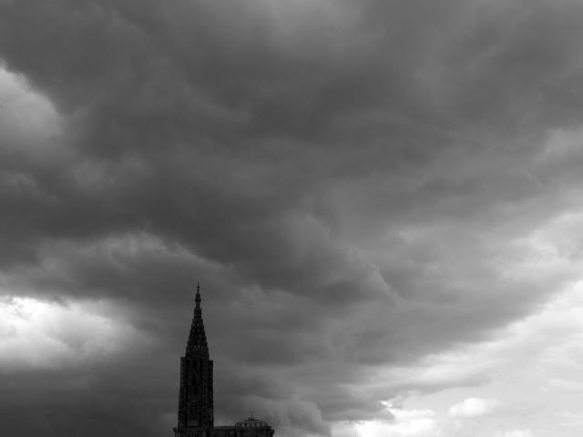 La cathédrale de Strasbourg. Bas-Rhin. Mai 2010.