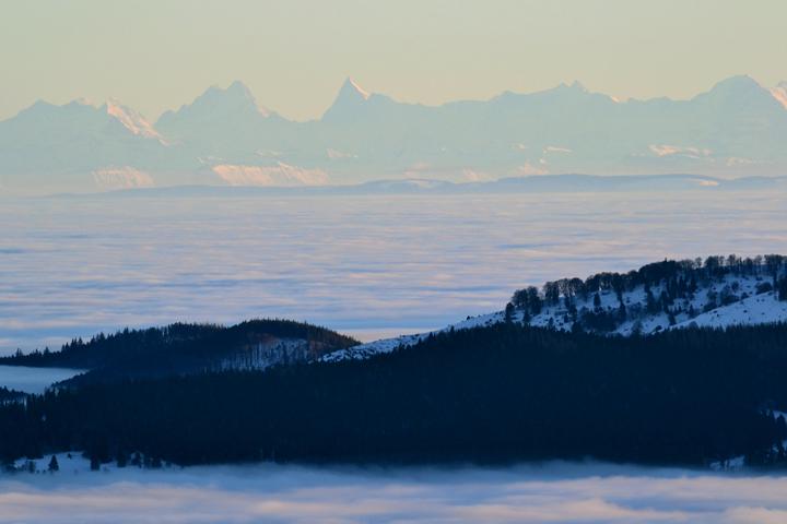 Vosges et Alpes. Haut-Rhin. Décembre 2010.
