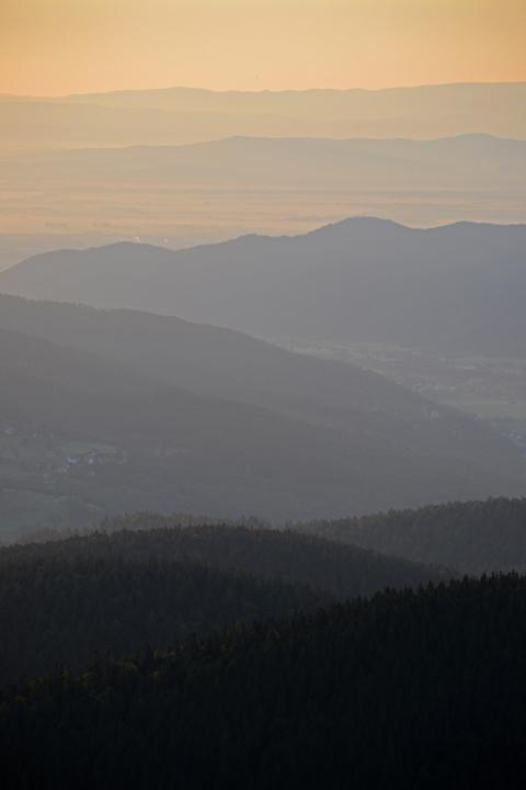 Vosges et Forêt Noire. Haut-Rhin. Juillet 2011.