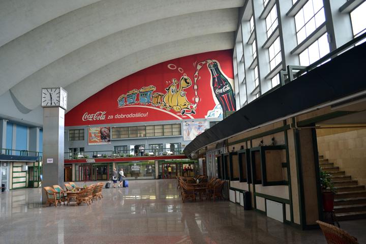 Gare de Sarajevo. Bosnie-Herzégovine. Juillet 2011.
