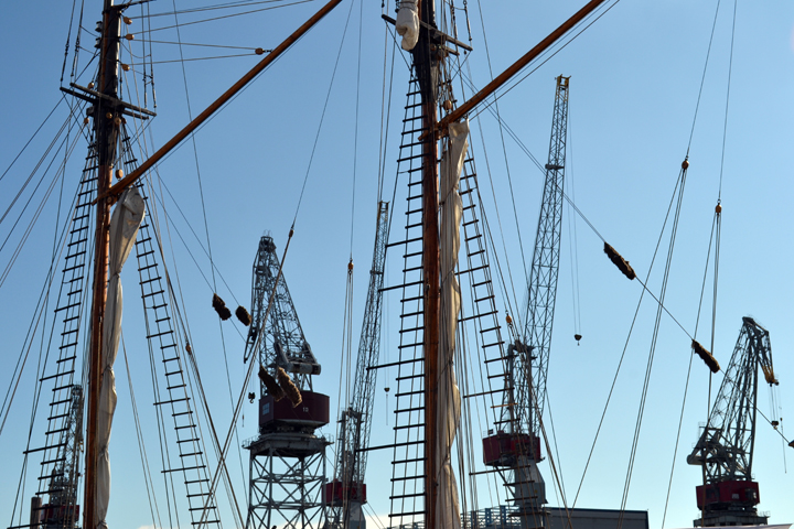 Port d'Helsinki. Finlande. Septembre 2011.