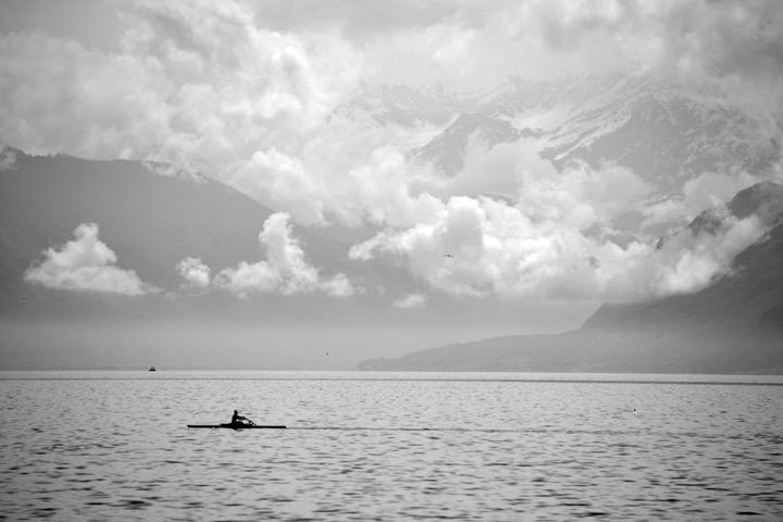 Lac Leman depuis Lausanne. Canton de Vaud. Juin 2013.