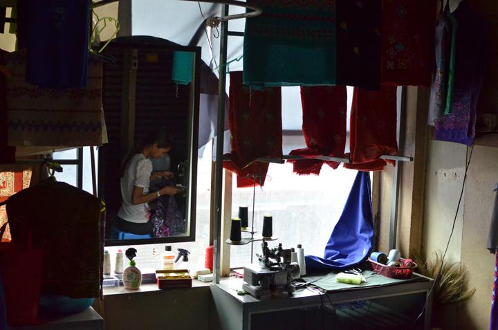 Bogyoke Market. Rangoun. Birmanie. Mai 2014.