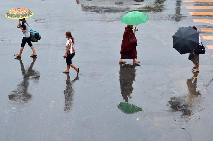 Rangoun. Birmanie. Mai 2014.