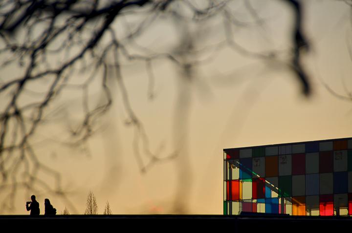 Musee d'art moderne et contemporain. Strasbourg. Bas-Rhin. Decembre 2014.