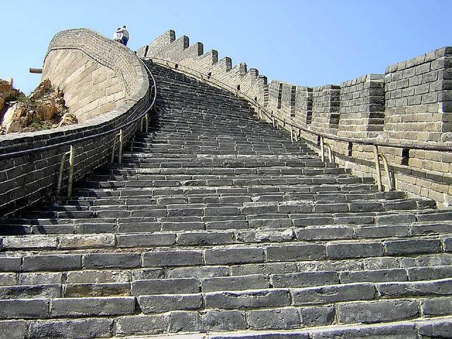 La muraille de Chine. Avril 2004.