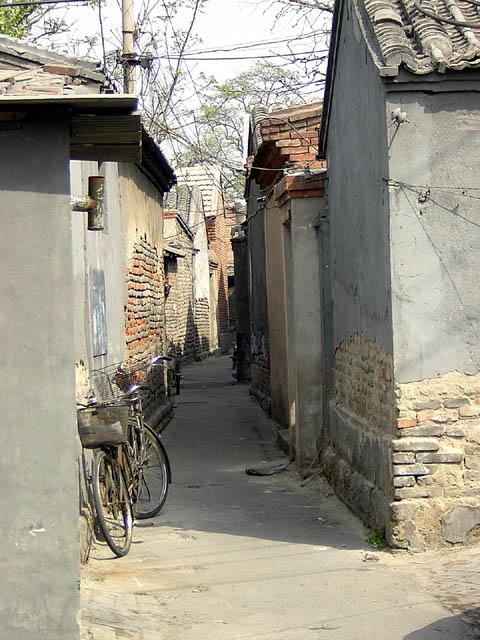 Ruelles de Pékin. Chine. Avril 2004.